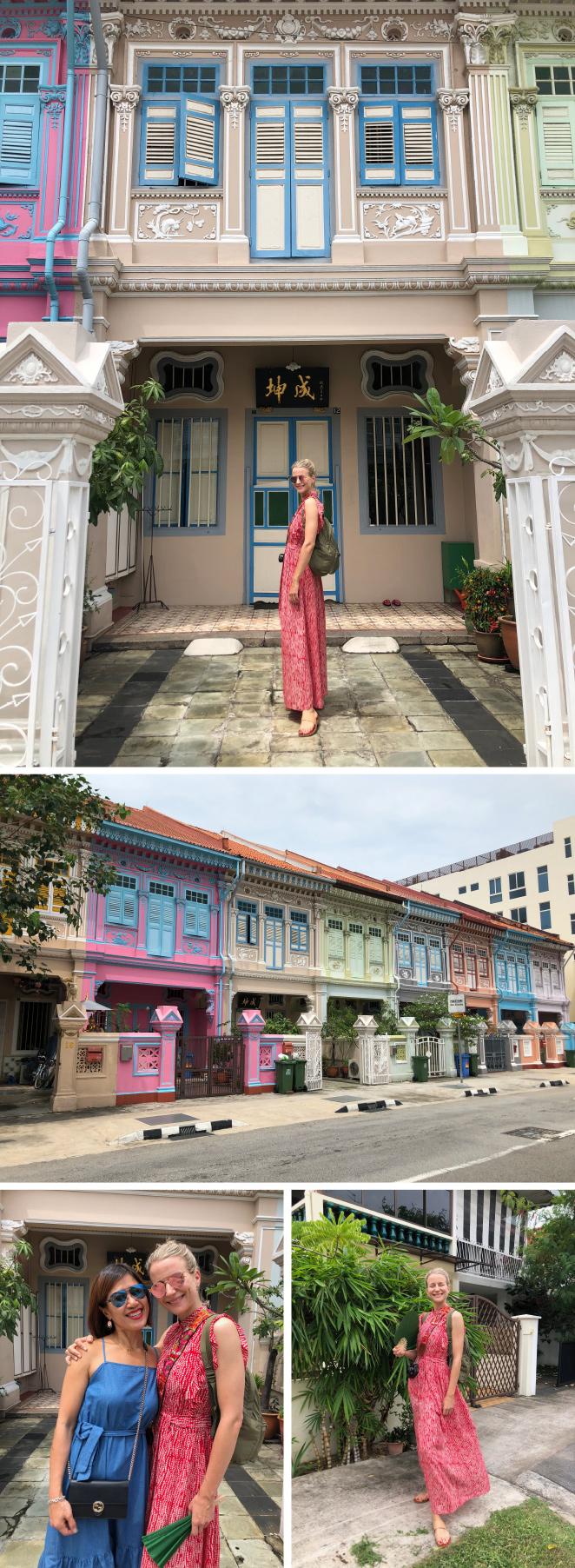 """Visita a una casa de la comunidad """"Peranakan"""" que son descendientes de los primeros inmigrantes chinos (los primeros son del S.XV) que llegaron a Singapur. Destacan por la influencia europea en su estilo de vida. Concretamente, visitamos """"The Intan"""" (www.the-intan.com), la casa/museo de Alvin Yapp y su madre donde pudimos admirar la colección de piezas antiguas (especialmente de moda y artículos de decoración) que ha creado. Me hizo especial ilusión descubrir los cientos de figuras religiosas católicas que ha ido comprando por el mundo."""