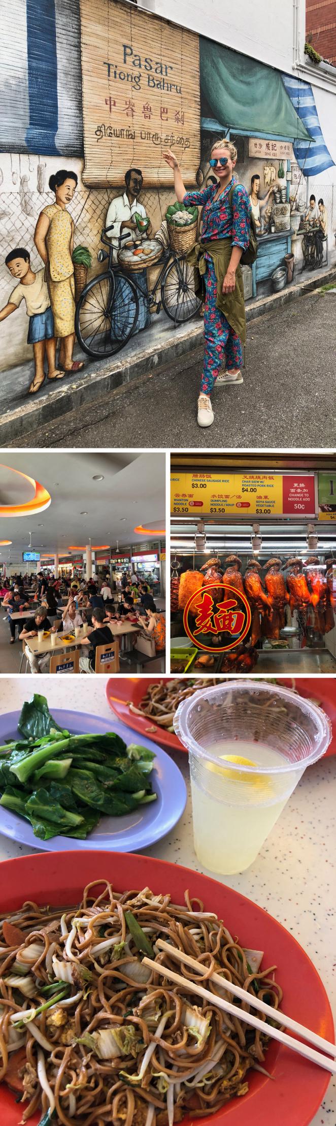 Mercado Tiong Bahru. En Singapur es muy habitual comer en los puestecitos de los mercados y éste es uno de ellos donde hay una amplia variedad de platos típicos para elegir, entre las que destaco el pato braseado. Cuidado con la higiene de los puestos, hay que tener buen ojo para la elección!!