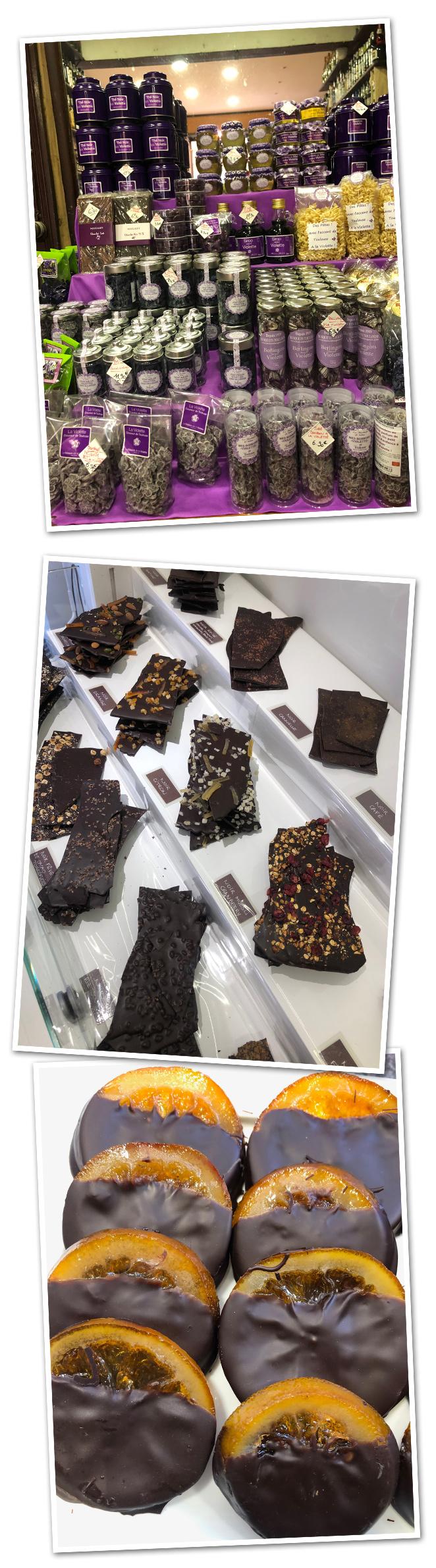 Otras tiendas gourmet que os recomendaría que visitarais son la emblemática Busquets que abrió sus puertas en 1919. Allí encontraréis la mejor selección de productos gastronómicos de la región (las violetas son muy típicas de aquí) y los vinos de Burdeos y, por otro lado, La Compagnie du Chocolat, considerada como la mejor chocolatería de Toulouse.