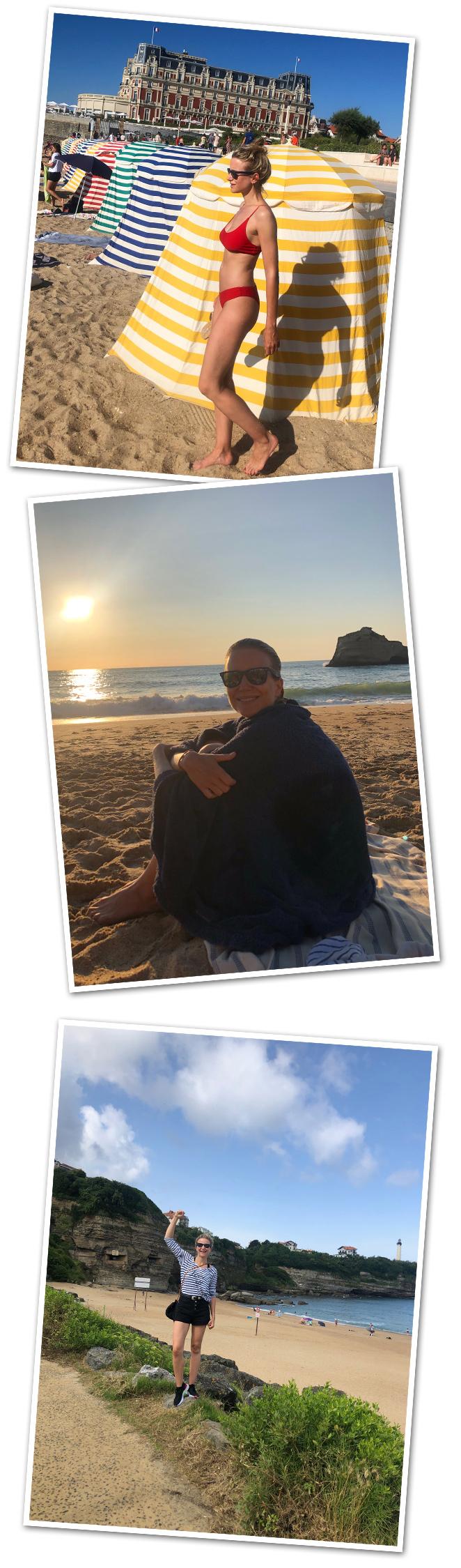 Darse un refrescante baño en la Grande Plage es como viajar en el tiempo, al ver esas sombrillas de rayas de diferentes colores hincadas en la arena con el hotel perfectamente dibujado al fondo te da la sensación de que estás en un escenario de otra época. Pero eso sí, si buscáis tranquilidad y espacio para colocar la toalla, mejor la playa de Miramar, es más pequeñita y tiene mucha magia. Ahh y atreveros a probar clases de surf porque este es el sitio ideal para practicar este deporte pero, eso sí, hacedlo con cuidado porque las olas aquí suelen tener gran peligro. Pero si preferís hacer otra actividad física menos arriesgada, un recorrido de principio a fin por la playa de Anglet también es estupendo!!