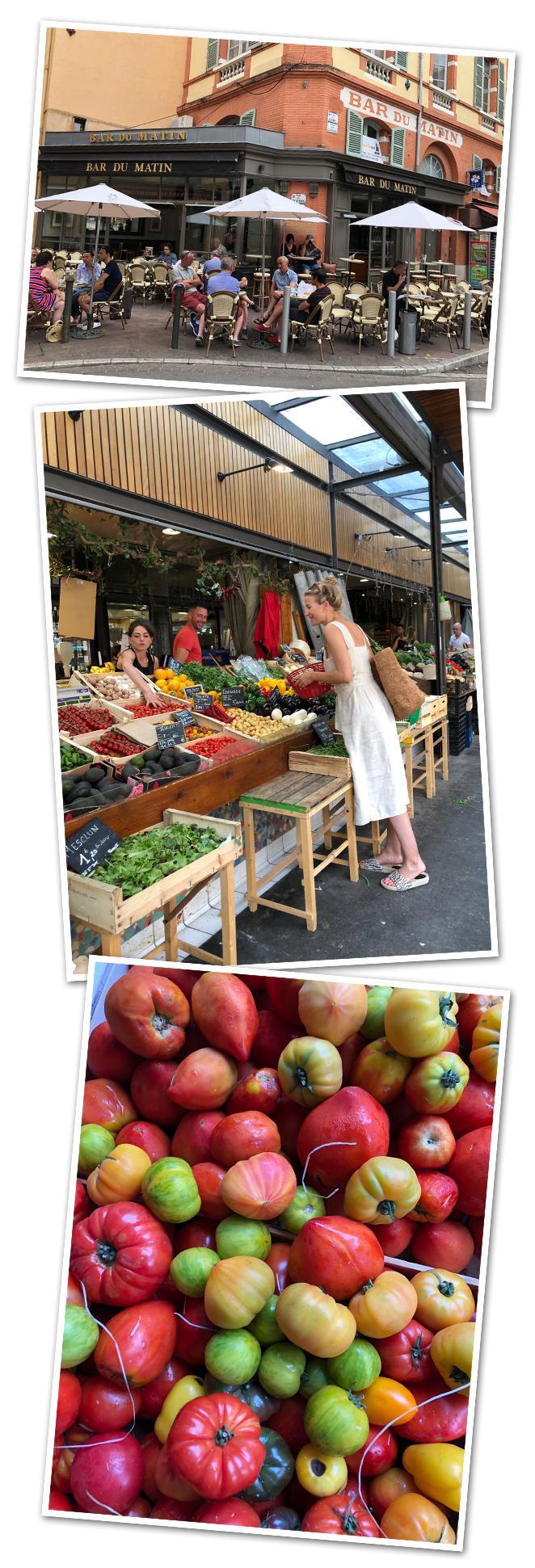 Para un buen desayuno francés, os recomiendo el Bar du Matin situado enfrente del mercado Les Carmes , uno de mis preferidos de la ciudad.