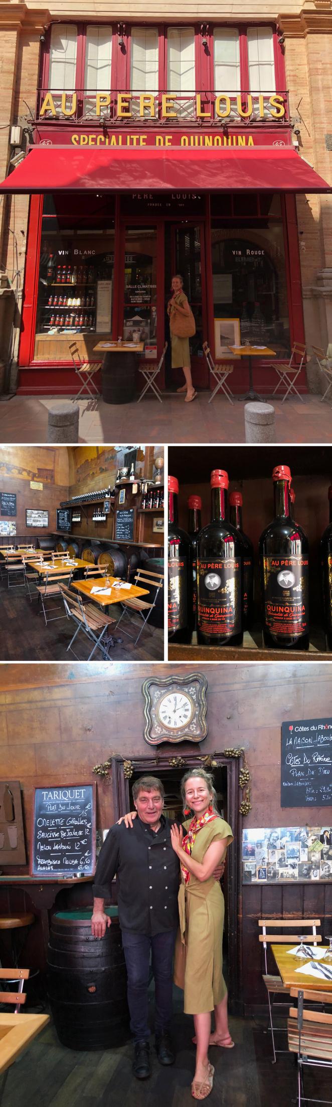 """Otro bar que también tenéis que conocer es """"Au Pere Louis"""" , uno de los más antiguos de Toulouse . Muy famosa su bebida de quinina."""