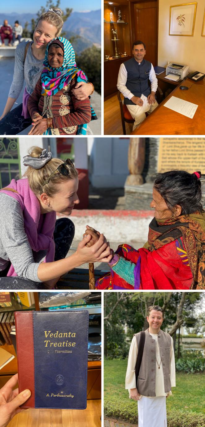 En Rishikesh tuve la suerte de alojarme en el Hotel Ananda que se centra en el cuidado y el bienestar desde el enfoque de la medicina ayurvédica. Mucho es lo que aprendí allí tanto para el bienestar de mi cuerpo como de mi mente. Fantásticas y muy inspiradoras las clases de filosofía de la escuela Vedanta que son un gran menú para la vida además de los tratamientos ayurvédicos del cualificado personal de su maravilloso spa y las actividades como yoga y trekking a través de la cual tuve la oportunidad de llegar hasta un recóndito templo de los Himalayas donde tuve un encuentro muy especial con los lugareños.